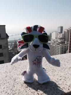 @TeamGB's Pride has joined our team out in Rio as we count down #1YearToGo #WheresPride
