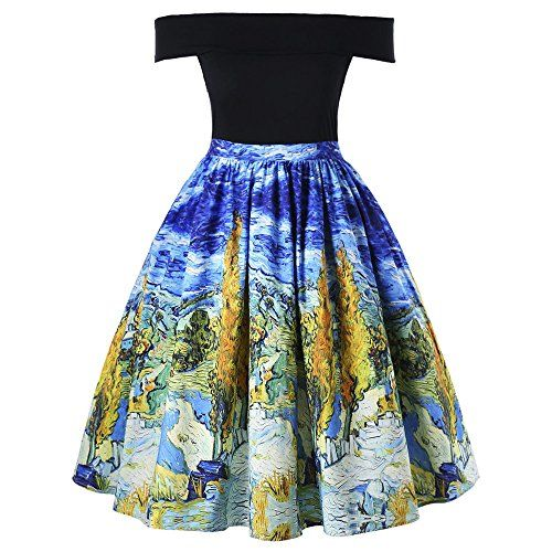 New BeautyGal Women's Off The Shoulder Oil Painting Plus Size Skater Dress online. Find great deals on Viwenni Dresses from top store. Sku gmbg97566hcif70046