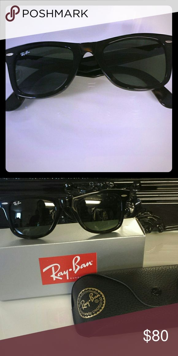 Ray-Ban Wayfarer Sunglasses in Havana Brand new,  in box with cases and lens cloth.   Model 2140 size 50 Ray-Ban Accessories Sunglasses
