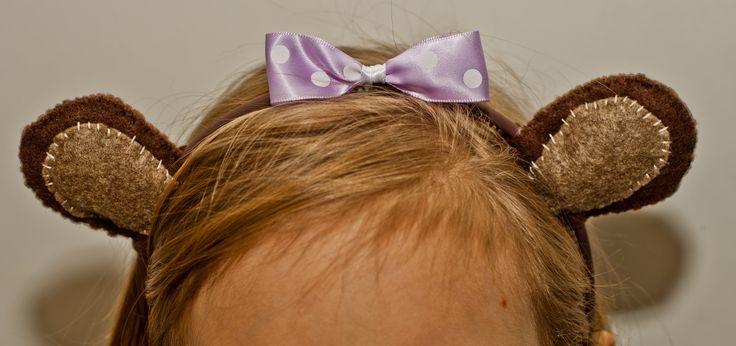 Handmade Bear ears hairband- for Teddy bear Day!
