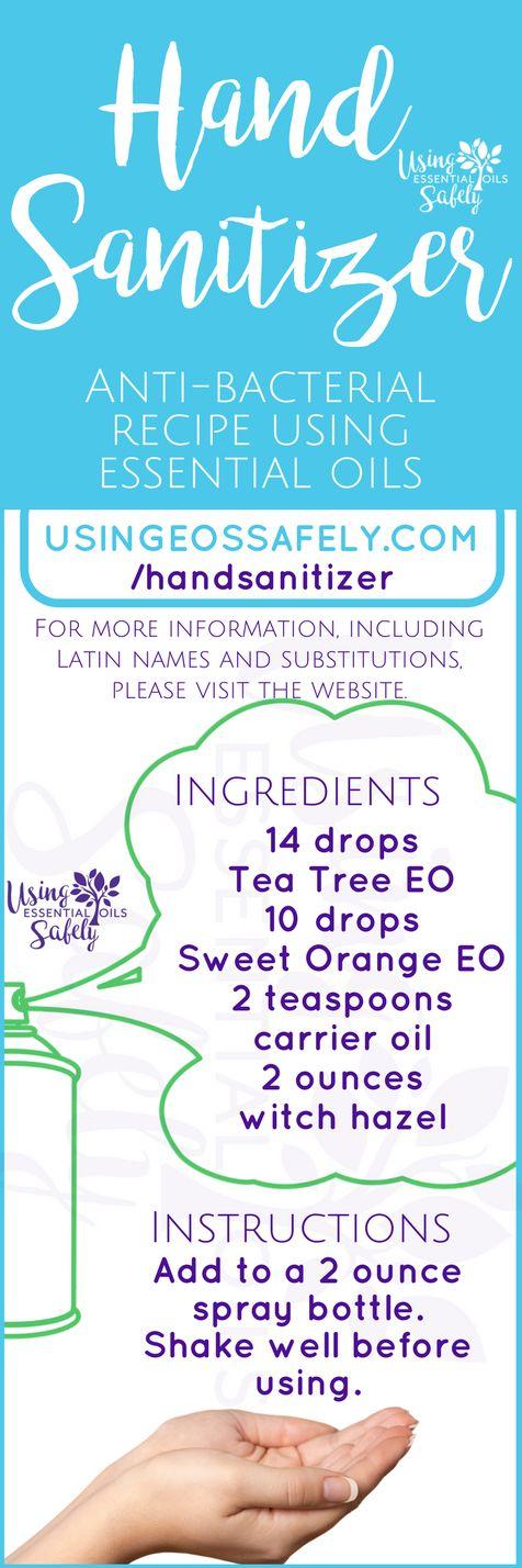 Hand Sanitizer Spray – anti-bacterial recipe using essential oils | Using Essential Oils Safely