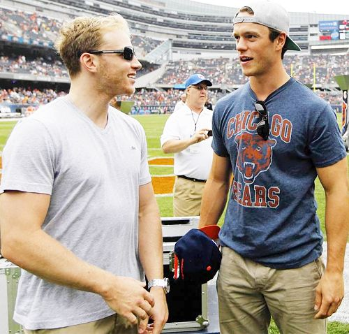 Bromance at the Bears game