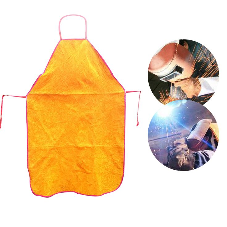 Bib Apron Weld Premium Whole Split Cowhide Flame-Resistant Leather Welding Apron for Great for BBQ  660327