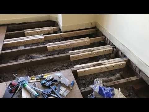 1 Sistering Floor Joists Youtube Flooring Leveling Floor Sistering Joists