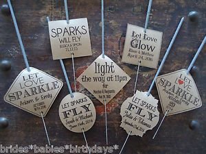 Kraft-Brown-Wedding-Favour-Gift-Tags-Sparklers-Bomboniere-PERSONALISED-Vintage