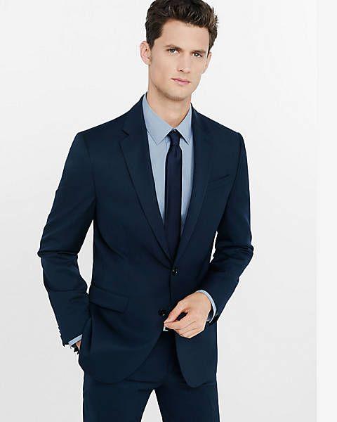 modern fit producer wool blend navy suit jacket
