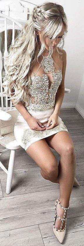 Lace + Silk Dress                                                                             Source