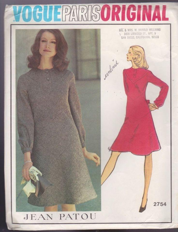 23 best Vintage Vogue Patterns images on Pinterest | Entwurfsmuster ...