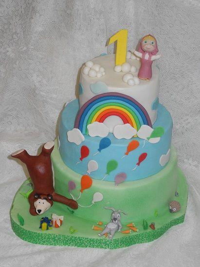 Торт с Машей и медведем #торт_на_заказ_одесса #день_рождения #бисквитный_торт #шоколадный_торт
