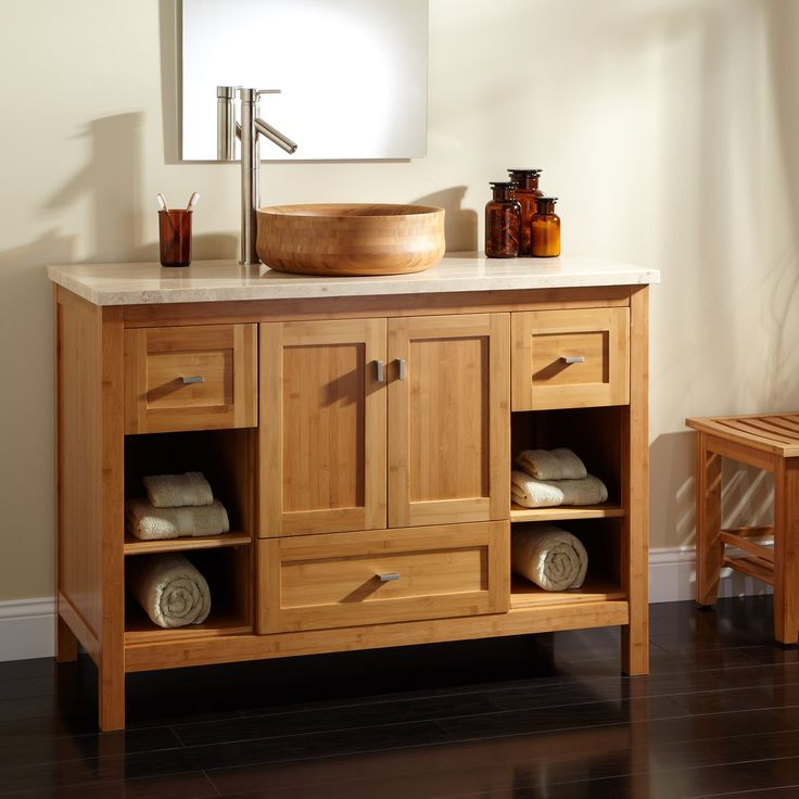 Bamboo Vanity Bathroom Photos Design Ideas