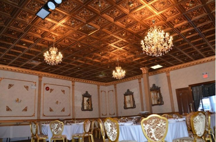215 Antique Gold Banquet Hall Ceiling Decor Pub