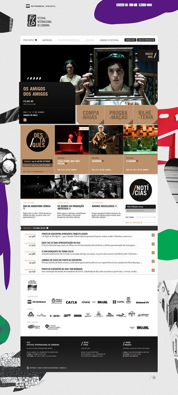 Filo Festival 2012 | Londrina by Pianofuzz , via Behance