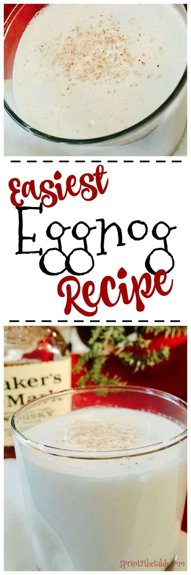 Super easy eggnog recipe - this version is ready to drink in less than 10!