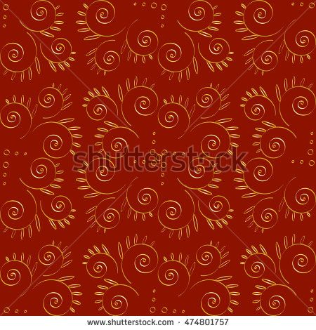 Vector Floral Volumetric Seamless Pattern. For Christmas design. Rich background