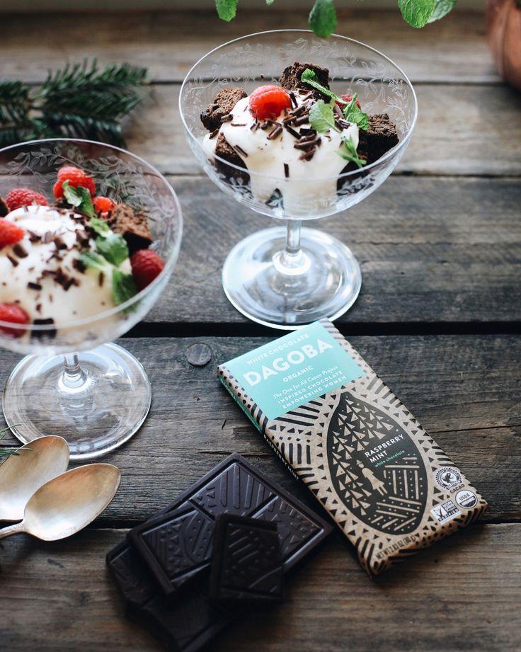 Trifle made with Dagoba Chocolate!