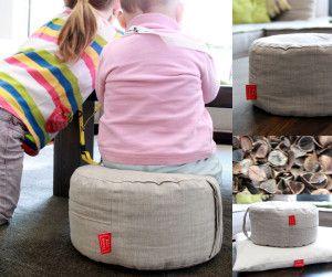 Lniane, ekologiczne poduszki do siedzenia z łuską gryki   http://qukeria.pl/?p=304  źródło zdjęcia: www.kidodidoo.com