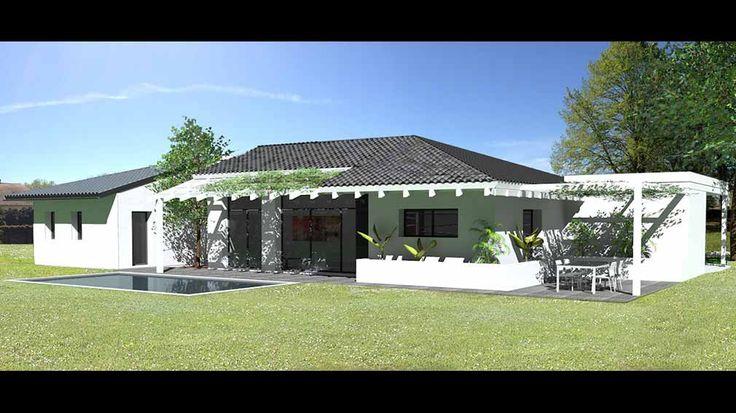 Maison d'architecte contemporaine à patio à Tarbes