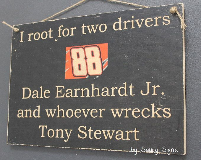 Dale Earnhardt Jr versus Kyle Busch Sign  NEW! - Cut Price Worldwide Shipping available on all our signs! Thats right ... Weve introduced FREE shipping Australia wide - 1/2 price shipping to NZ & we pay a huge portion of the shipping to the UK, USA & the rest of the world.  You can also see our entire range on our new website: www.saucysigns.com Please Note Re: International Shipping:  Typically our signs reach major Worldwide, Canadian & US cities within 7-10 days, & fro...