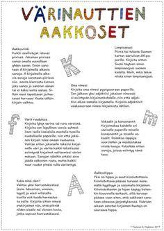 Värinauttien blogissa enemmän tietoa Värinauttien aakkosista!