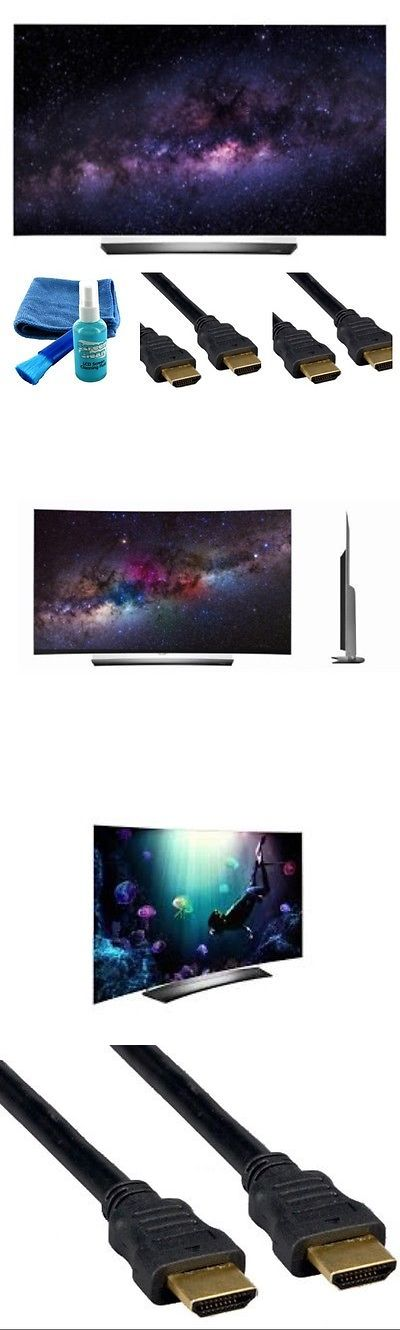 Televisions: Lg Oled55c6p Curve 55-Inch 4K Ultra Hd Smart Oled Tv (2016 Model)4 Piece Bundle BUY IT NOW ONLY: $1650.0