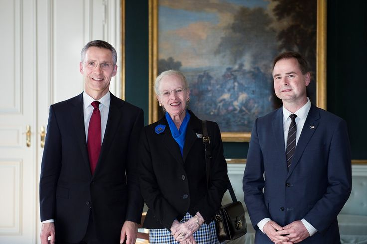 In connection with NATO Secretary General Jens Stoltenberg's official visit to Denmark received HM the Queen Monday, April 20, 2015 the Secretary-General in Christian VII's Palace, Amalienborg.  In connection with the receipt was taking a picture of the Queen with the Secretary General Jens Stoltenberg and Defence Minister Nicolai Wammen in the Gallery, Christian VII's Palace.