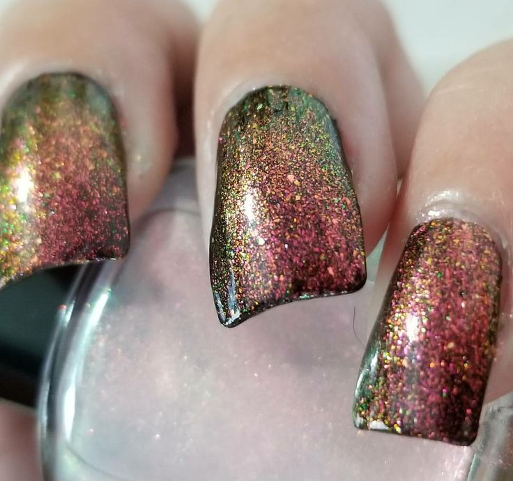 Paint It Pretty Polish  Baby Its Cold Outside over black base Christmas topper