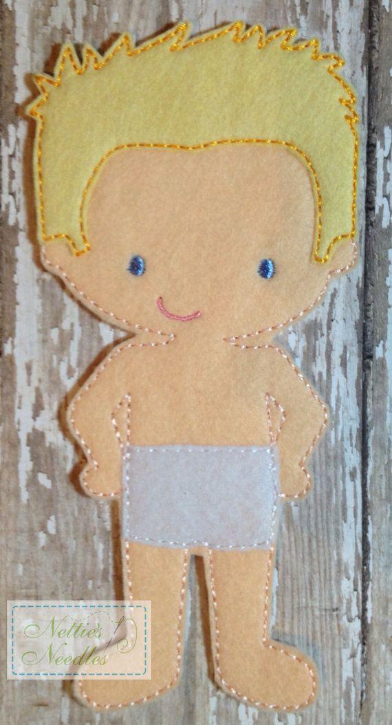 Felt Un Paper Simpson Doll by NettiesNeedlesToo on Etsy, $6.00