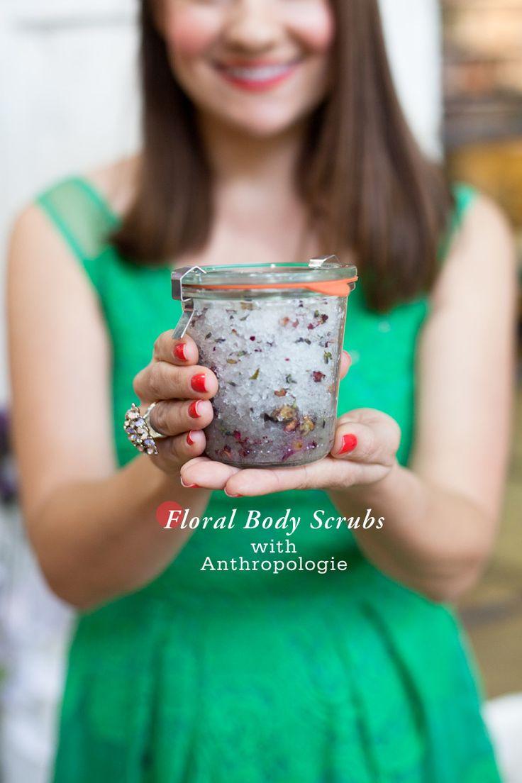 Anthropologie Freutcake DIY Body Scrub Floral Body Scrubs with Anthropologie