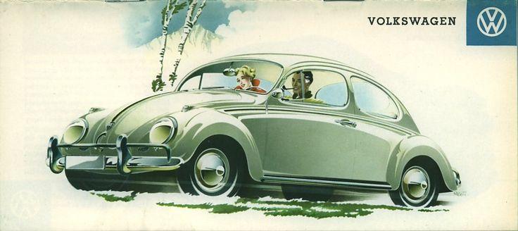 VW typ 113 Reuters 1958 (Luneta trasera ovalada de dibujo anterior, ahora exagerada para asemejarse a la nueva luneta rectangular aparecida en 08.57