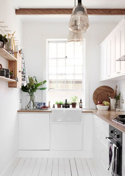 Petite, clean kitchen. Carla and Troy Murley — The Design Files