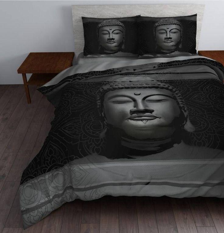 Sleeptime Dekbedovertrek Steel Buddha zwart