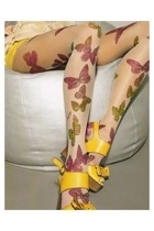 tights: Shoes, Butterflies Legs, Clothing, Sandals With Bows, Butterflies Tights, Socks, Pantyho Fashion, Hosiery, Fashion Butterflies