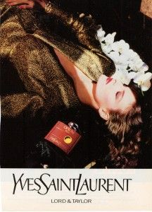 """Finnfemme: """"Perfumes I Wore in the 80s"""" -YSL-Opium Perfume Ad 1987 ~~~ I started wearing Opium in 1983 and wear it to this day. This is MY scent! :-)"""