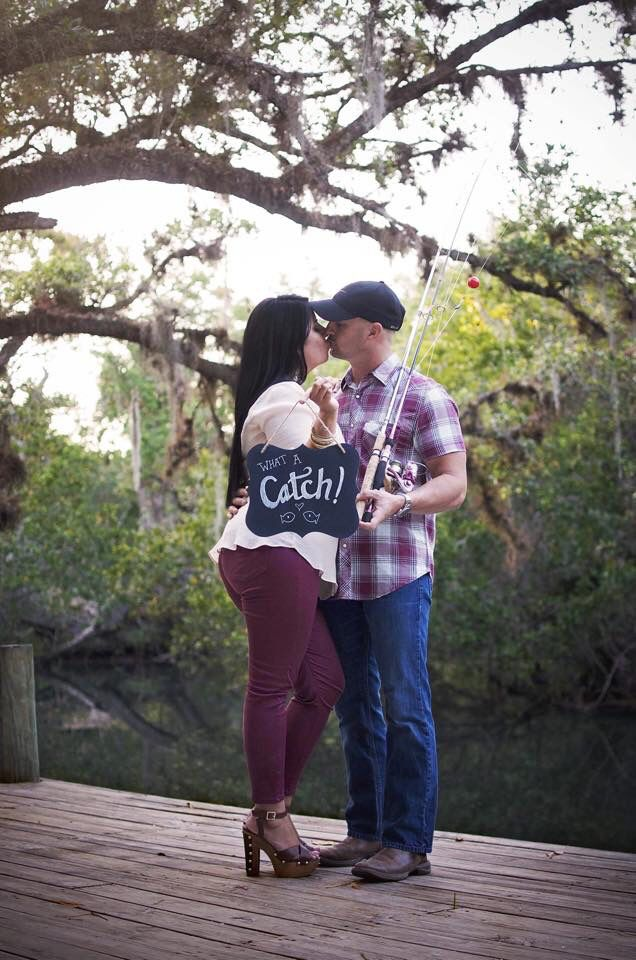 Florida Fishing Engagement picture at Koreshan State Park photo credit to Sarah Ormiston Photography