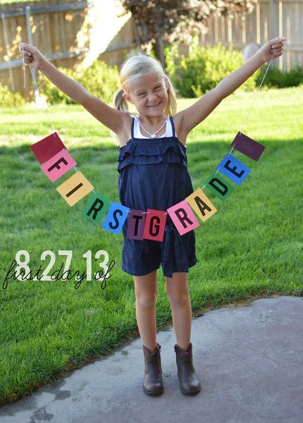 Banner Photo Idea - First Day of School Traditions - Photos