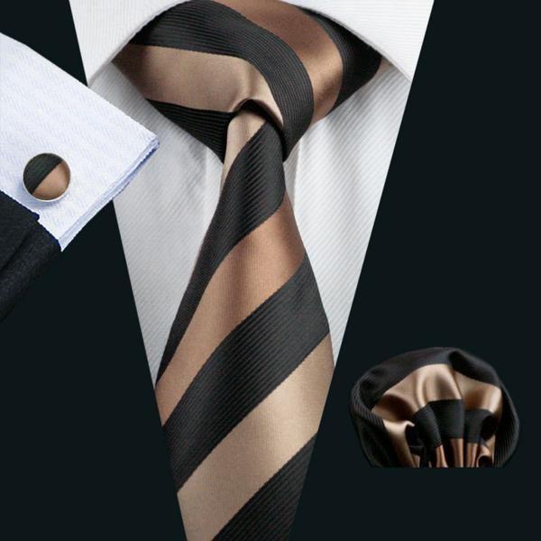 Slim tie - Woven Jacquard silk in solid bronze brown Notch leIE3u
