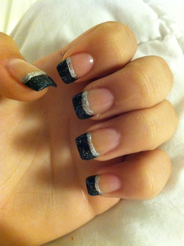 I like the black and silver together | nails | Pinterest ...
