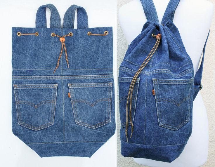 tous les sacs à dos https://www.etsy.com/shop/UpcycledDenimShop?ref=hdr_shop_menu%C2%A7ion_id&section_id=18959335 * le sac sur la photo a été vendu, contactez-moi et je vous ferai un nouveau dans la couleur de votre choix * un denim durable de grande capacité sac à dos, lavable et polyvalents pour utiliser elle pour une journée shopping en ville, comme un sac de plage, un sac de sport, un sac décole (une couverture rigide A4 dossier sadapte confortablement à lintérieur) ou même un sac à…