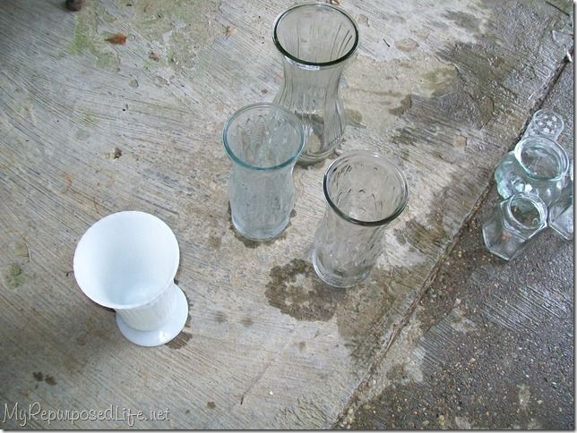 about spray painting glass on pinterest painted vases spray paint. Black Bedroom Furniture Sets. Home Design Ideas