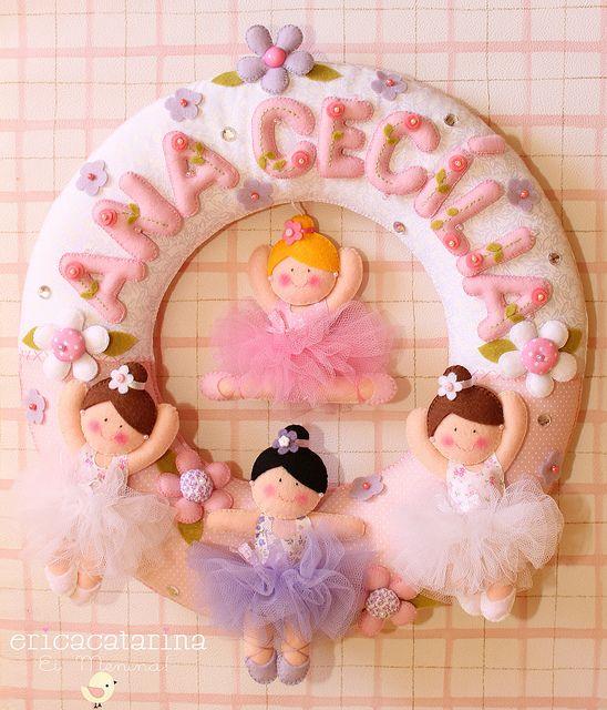 felt ballerinas by Ei menina! - Erica Catarina, via Flickr