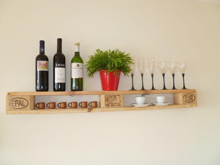 Küchenregal aus Europaletten // kitchen shelf by Palettano via DaWanda.com