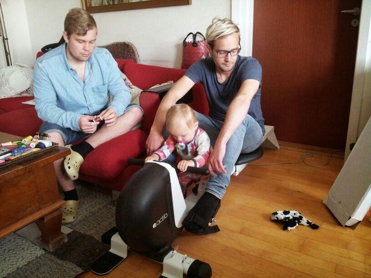 Fenja, onkel Per og onkel Dan 2014