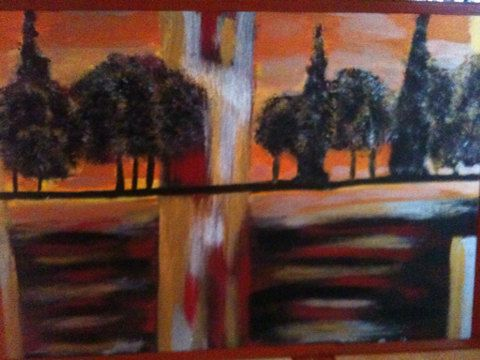 Abstract trees 35:65 cm on Etsy, 136,68 €