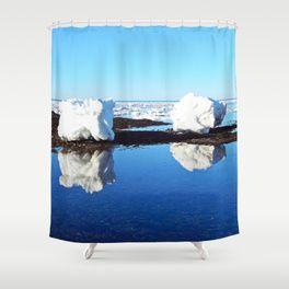 Baby Icebergs on the Tidal Shelf Shower Curtain