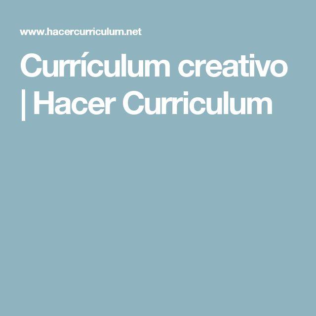 Currículum creativo   Hacer Curriculum