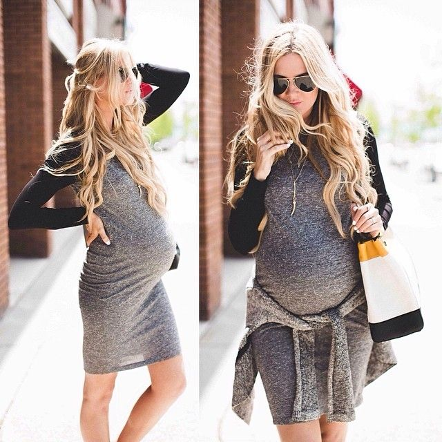 Maternity Fashion 2018 : So cute! I would rock this ~ Pregnancy style: Get this look for less th ...