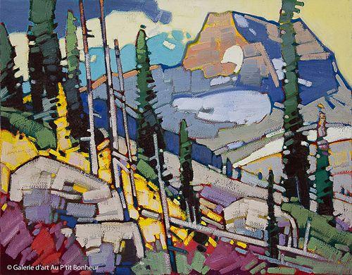 Cameron Bird, 'Mountain Light, Blue River, BC', 22'' x 28'' | Galerie d'art - Au P'tit Bonheur - Art Gallery