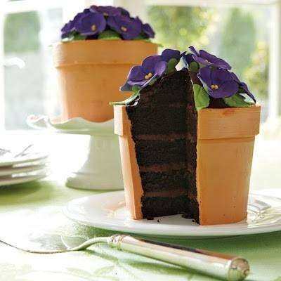 These Cool Flower Pot Cakes Are Available At Williams Sonoma.  They Look Really Good!!