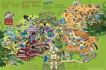Zoo Map Tampa 39 S Lowry Park Zoo Shunshine State