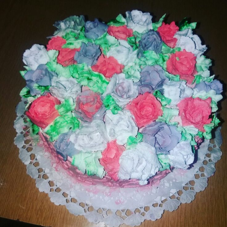 Virágos doboz torta
